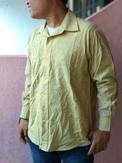 FOXTON Yellow Plain Shirt