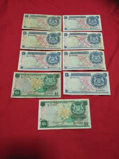 Sg old notes   9pc offer $108