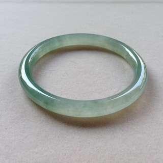 冰綠水圓條手鐲
