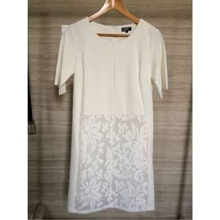 (NEW) Zalora white lace dress