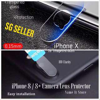 🚚 IPhone X, 8/8plus, 7/7plus Back Camera Lens Protector