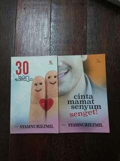 Novel Syamnuriezmil 30 Hari Sahaja + Cinta Mamat Senyum Senget