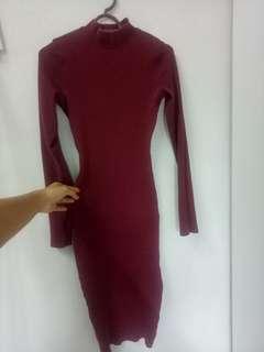 Preloved Bodycon Dress Pull Bear