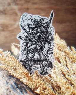 Bakemono Samurai Stickers