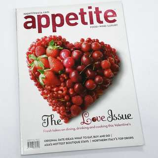 Appetite - Food.Wine.Luxury: The Love Issue (February 2012) *Clearance @ S$2 Only!
