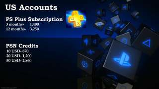 PS Plus Subscription and PSN Credits