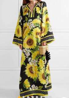 Designer lounge/poolside dress