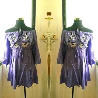 Korean dress ruffles dress brand new with tags
