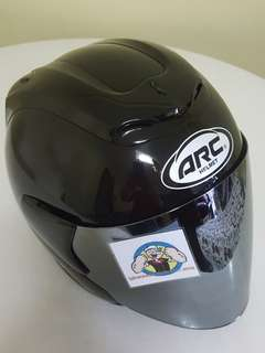 2706*** ARC RITZ Black with Chrome visor Helmet For Sale 😁😁Thanks To All My Buyer Support 🐇🐇 Yamaha, Honda, Suzuki
