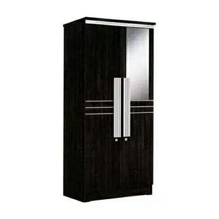 Lemari pakaian 2 pintu cermin minimalis