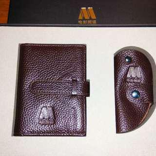 Brand new leather name cards wallet & key pocket