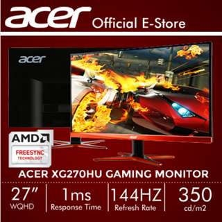 Acer XG270HU 27 (16:9) Wide QHD Gaming Monitor with 144Hz Refresh Rate