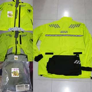 2706*** Givi Raincoat CRS02 NEON YELLOW ¤ Lighter Type ¤ 🤣🤣Thanks To All My Buyer Support 👌👌