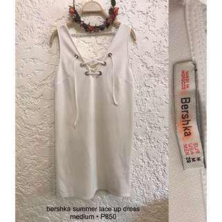Bershka Lace up Dress
