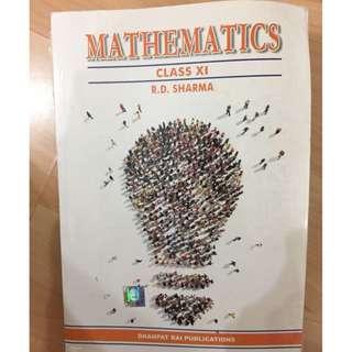 R.D. Sharma Mathematics Textbook for Class XI