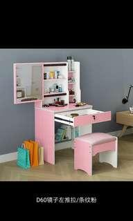 梳妝台卧室化妝包台多功能化妝包桌收藏盒小型網红化妝台歐式