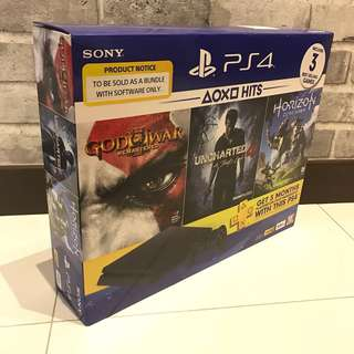 [NEW] PS4 Slim 500GB Jet Black Hits Bundle
