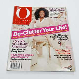 The Oprah Magazine: De-Clutter Your Life! March 2012 Vol.13, No.3 *Clearance Price @ S$2.00!