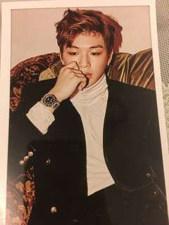 Wanna one daniel postcard