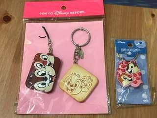 $120兩件貨品 松鼠 Chip n dale 匙套 再加 電話繩及匙扣套裝
