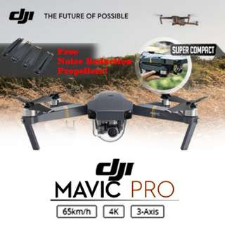 [READY STOCK]★ DJI MAVIC PRO ★ 4K CAMERA ★ 7KM RANGE ★ SUPER COMPACT ★ REMOTE CONTROL INCLUDED ★