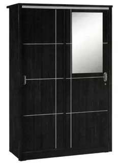 Lemari pakaian 2 pintu sliding door cermin