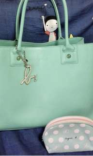 Agnes b tiffany blue big side big