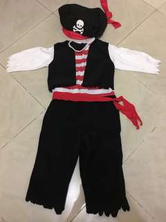 Pirate Costume for Boys, Set, Top, Pants, Hat (Halloween, Play, Party)