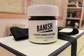 BRAND NEW Banish Activated Charcoal Clay Masque