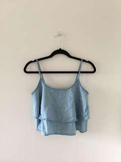 Flowy Chambray Tank Top