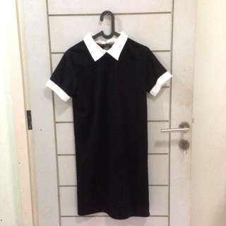 Zara Lookalike Black Collar Dress