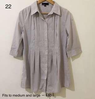 Grey longsleeves / long blouse / dress