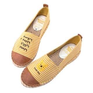 🔆預訂🔆迪士尼 disney Grace gift 小熊維尼 Winnie the pooh Tsum Tsum  帆布鞋 平底鞋 漁夫鞋 女裝鞋 黃色間條
