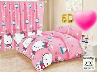HELLO KITTY 5 IN 1 BED SHEET SET