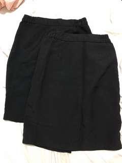 Black uniform skirt