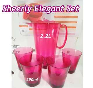 Promotion Tupperware Sheerly Elegant set