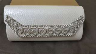 White Clutch/ Dinner Bag