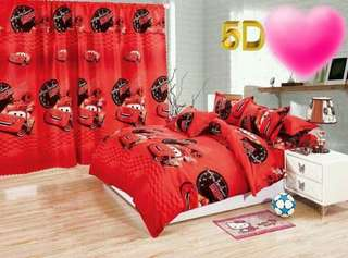 CARS 5 in 1 BED SHEET SET