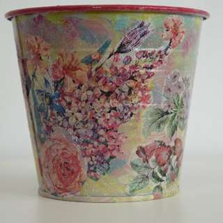 Handcrafted garden pot/pail