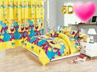 SPONGEBOB 5 in 1 BED SHEET SET