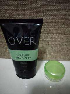 Make over corrective base make up share in a jar