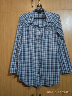 Von Dutch Plaid Blouse
