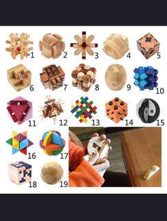 Intelligence Wooden Lock Puzzle Toy For Adult & Children