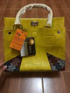 Planeta Latino Bag Yellow with Inca Treasure