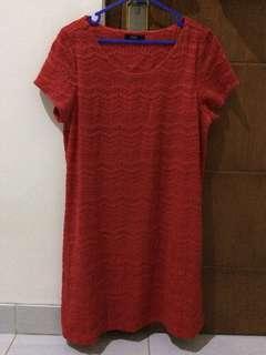 Jual Baju Dress Merah