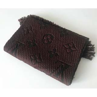 【Louis Vuitton】Echarpe Logomania Scarf Marron Maroon Brown LV 頸巾 圍巾