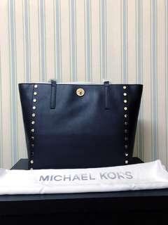 Michael Kors Rivington Stud Large Tote in Black