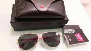 Original rayban RB 8313 FERARRI.LIMITED EDITION,GOLD FRAME BROWN POLARISED LENS