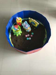 Children 2in1 ball pit / sand pit + water pool