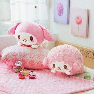 💯 FuRyu My Melody My sweet Piano Sheep Nesoberi Lying down plush
